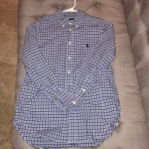 Boys button down polo shirt